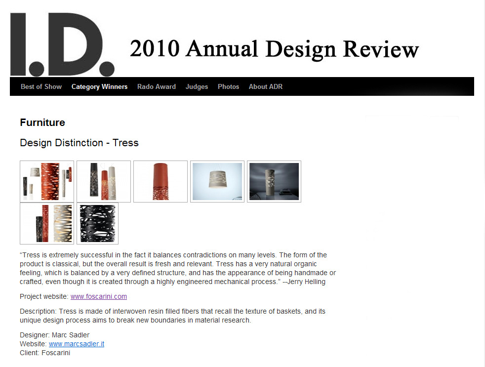 I.D. Annual Design Review | Tress | 2010