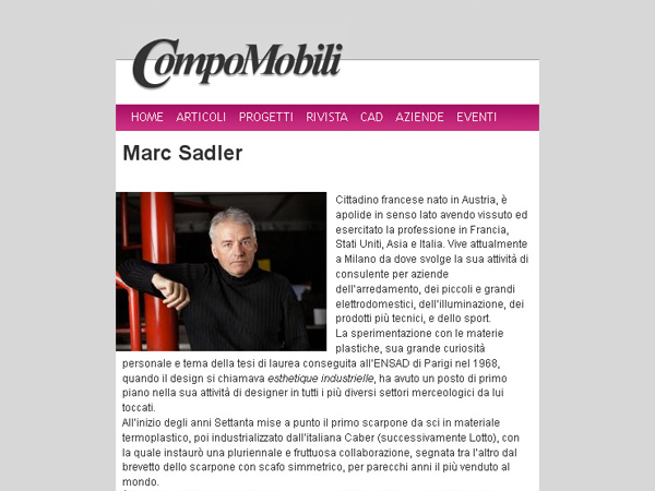 Compomobili | Interview with Marc Sadler