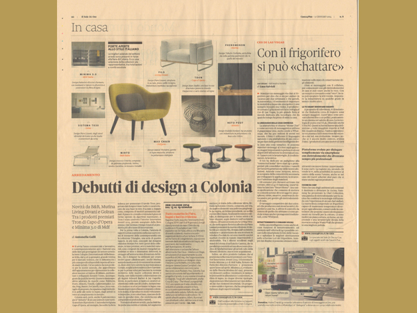 Il Sole 24Ore | Design Debuts at Cologne