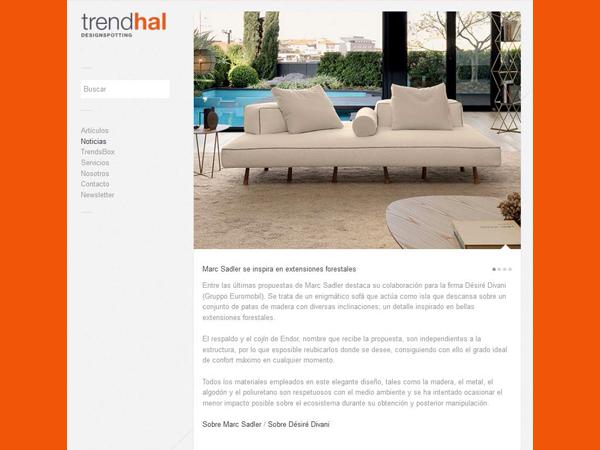 Trendhal | Marc Sadler se inspira en extensiones forestales