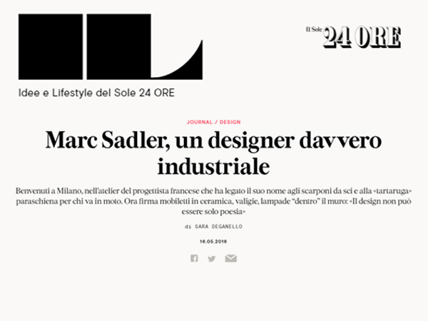 IL | Marc Sadler, a real industrial designer