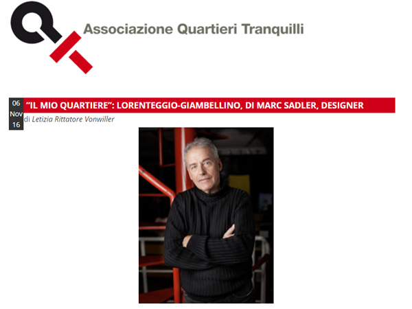 Interview for Associazione Quartieri Tranquilli