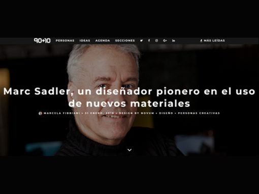Marc Sadler | Intervista per 90+10 | 2018