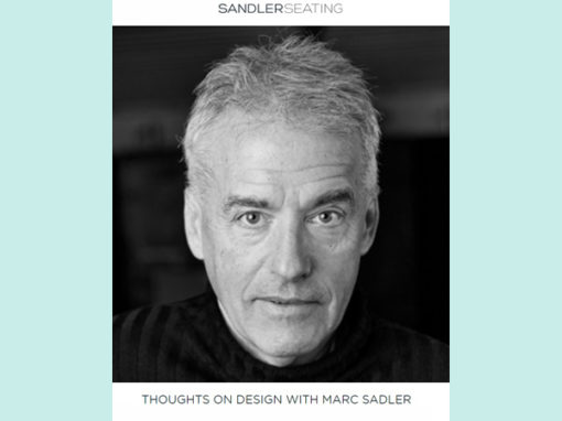 Marc Sadler | Intervista per Sandler Seating | 2018