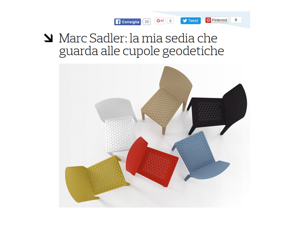 Casa&Design | Marc Sadler, my chair that looks at geodesic domes