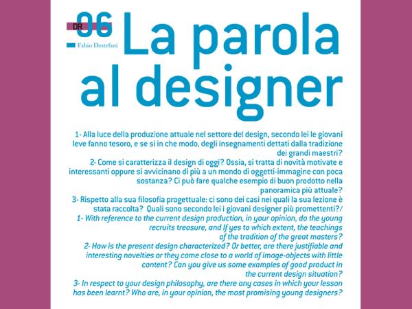 La Parola al Designer