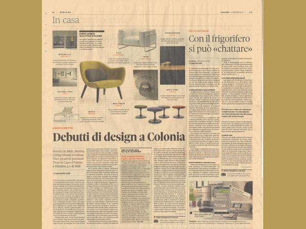 Il Sole 24Ore | Debutti di design a Colonia