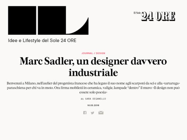 IL | Marc Sadler, un designer davvero industriale