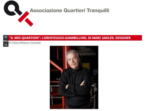 Interview for Associazione Quartieri Tranquilli