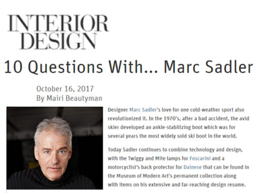 10 Questions With..   Interior Design   2017