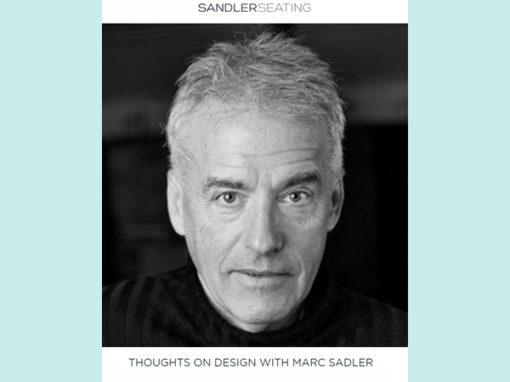 Sandler Seating | Toughts on design with Marc Sadler | 2018