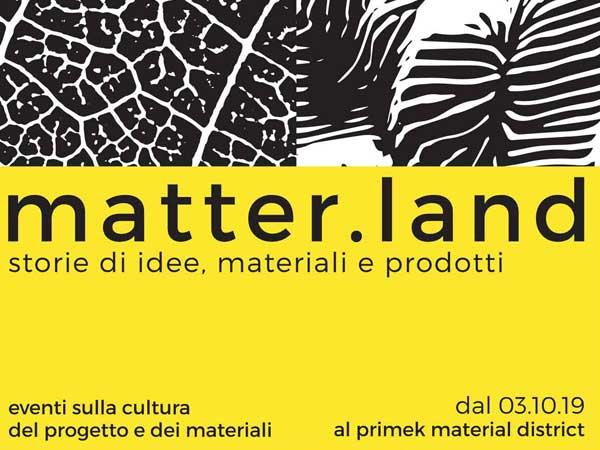 matter.land @ Primek material district | 2019